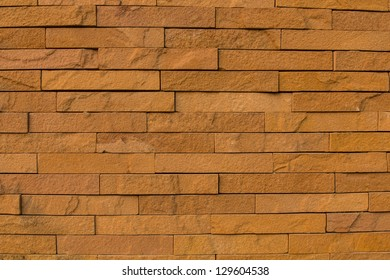 Brick on exterior wall for building