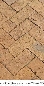 Brick pattern, pavement, South Africa