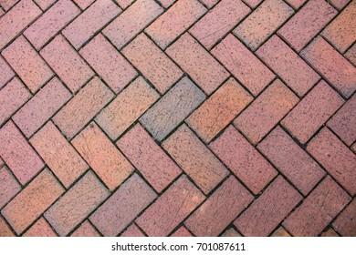 Brick Patterned Sidewalk