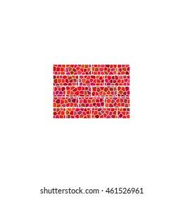 brick  - red mosaic icon
