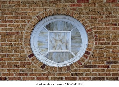 Brick stained glass round