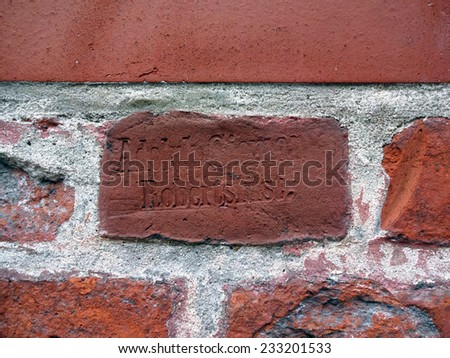 brick stamp background wall stock photo edit now 233201533