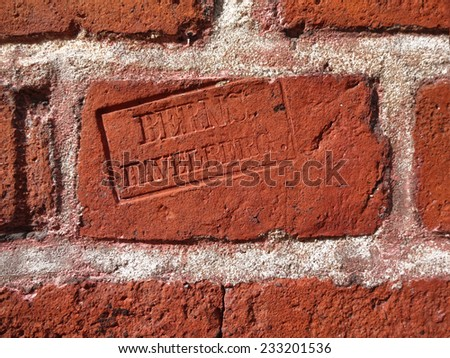 brick stamp background wall stock photo edit now 233201536