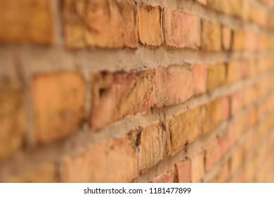 brick stone wall in yellow