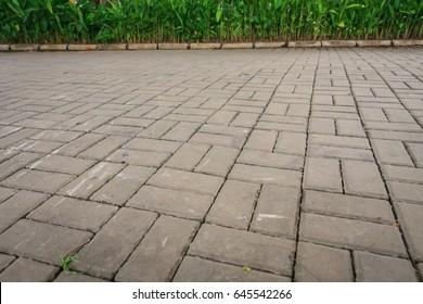Brick street background