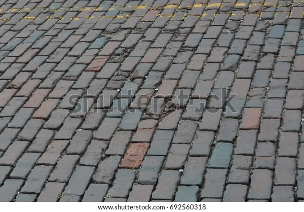 Brick street pavement