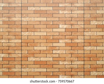 Brick style exterior wall