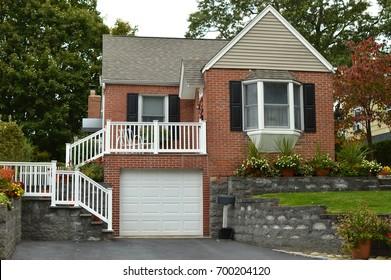 Brick Suburban Home USA