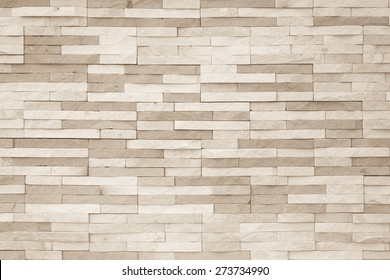 Brick tile pattern background in light antique cream brown color