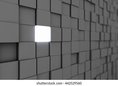 Brick in the wall 3D rendering