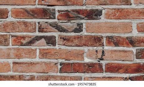 brick wall, background red brick wall
