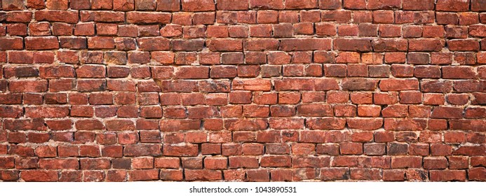 brick wall background, red stone masonry texture