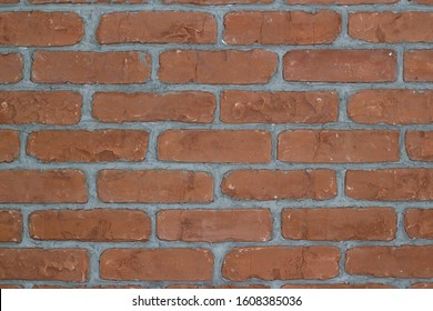 Brick wall background. Red brick wall texture