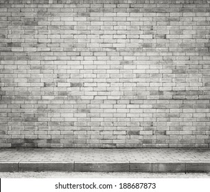 Brick wall background, texture