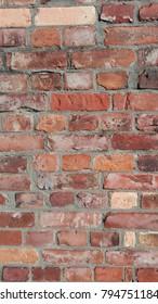 Brick wall background.  Brick wall texture. aged  brick wall texture