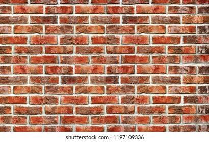 Brick wall background. Texture from bricks. Old vintage brick background,