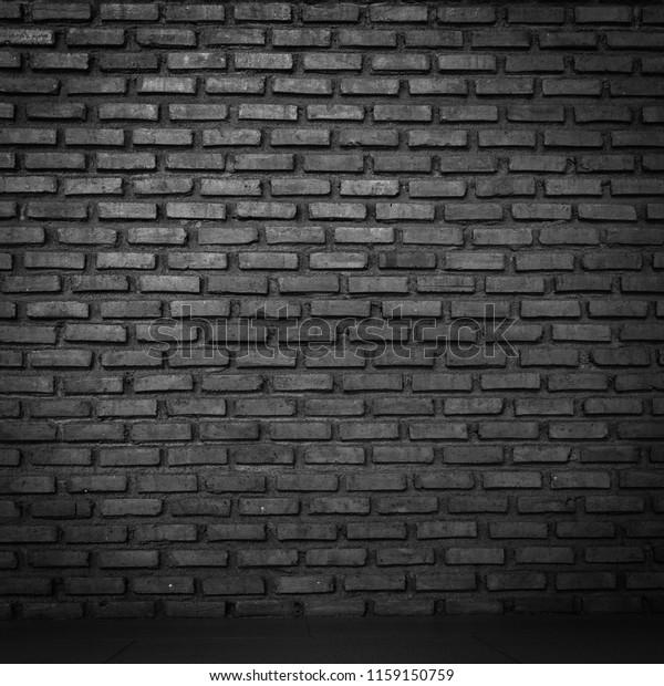 Brick Wall Black Background Texture Paint Stock Photo Edit Now