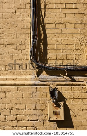 Brilliant Brick Wall Bundle Electrical Wiring Stock Photo Edit Now 185814755 Wiring 101 Akebretraxxcnl
