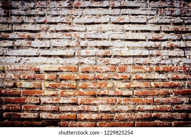 Brick wall and cement rustic old background