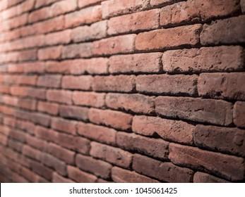 Brick wall closeup angle