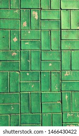 brick wall design blue colour