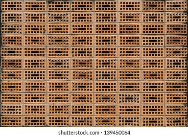 Brick wall designed with holes