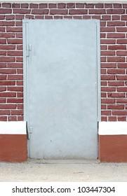 brick wall with door background