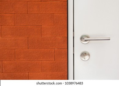 brick wall and door background