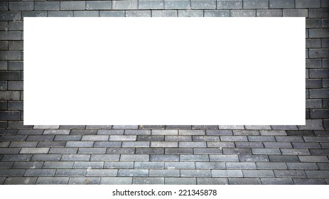 Brick wall frame texture background