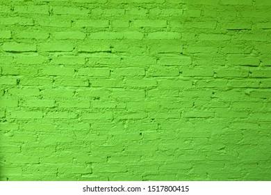 Brick wall green stone design texture background