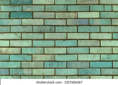 brick wall grunge mint green turquoise ough surface detailed texture brick tiles background