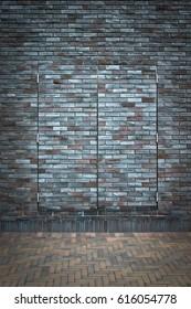 Brick wall and hard to see door