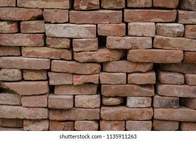 Brick wall heap stack masonry old grunge