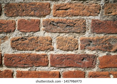 Brick wall in the historic city of Havelberg in Germany