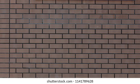 Brick wall in a house under construction