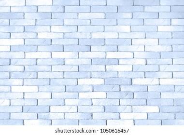 Brick wall, light blue stone wall pattern