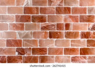 Brick wall made out of salt texture