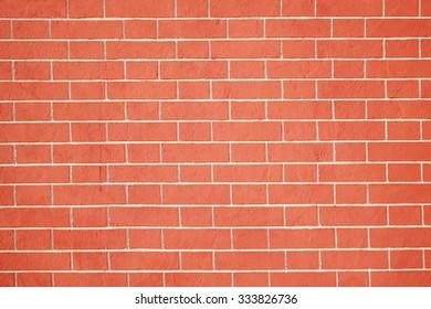 Brick wall. New brick wall close
