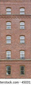 Brick wall with old  windows