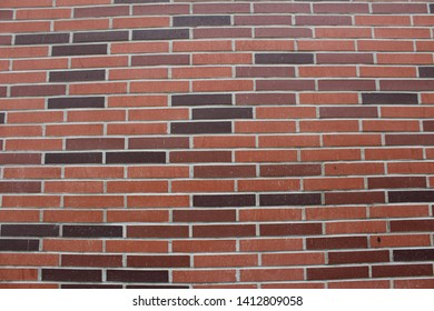 a brick wall on campus