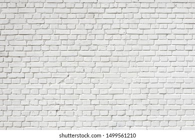 brick wall painted white pattern for background