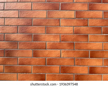 Brick wall with red bricks, red brick background.