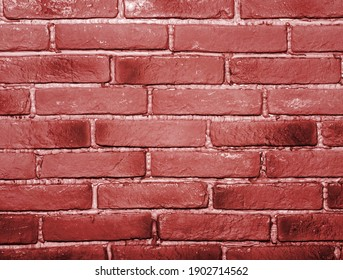 Brick wall with red brick texture for background.