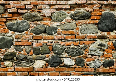 brick wall with stone