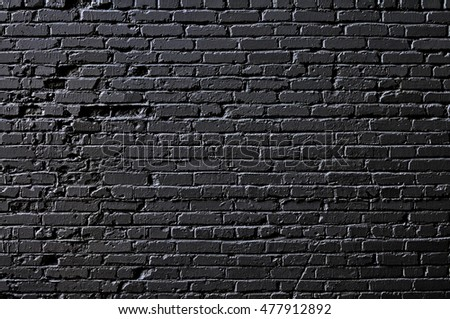 Brick Wall Template Background Black Stock Photo (Edit Now ...