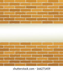 brick wall texture and empty place
