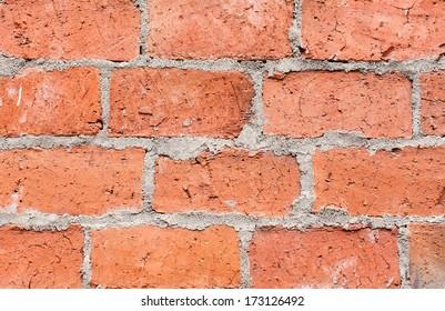 Brick wall, textured background.
