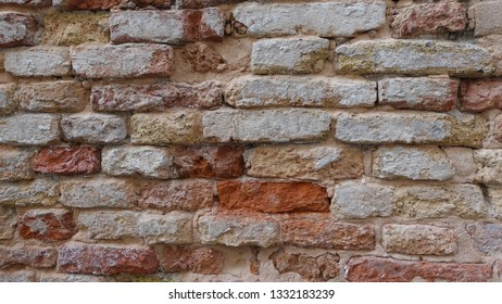 Brick wall in Venice Italy