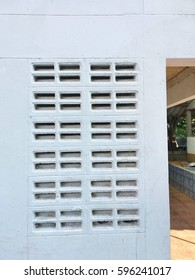 Brick wall, ventilation block.