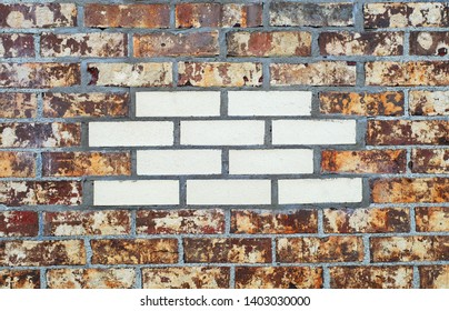 brick wall white insert rough texture pattern